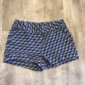 J. Crew Geometric Print Shorts